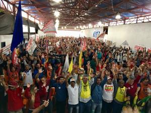 Metallerversammlung aller Gewerkschaften am 29.9.2017 in Sao Paulo beschliesst Kampftag