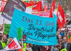 """die Beschäftigten des Marienhauses Ottweiler: """"Das 11. Gebot: Du sollst nicht an der Pflege sparen"""""""