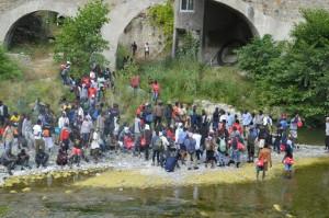 Flüchtlingsprotest in Ventimiglia