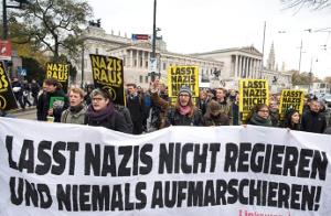 10.000 Menschen in Wien gegen schwarz-blau am 15.11.2017
