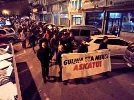 Berliner Solidemo mit den baskischen Gefangenen