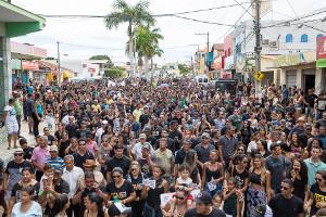 Demo in Correntine am 11.11.2017 von der brasilianischen Militärpolizei überfallen