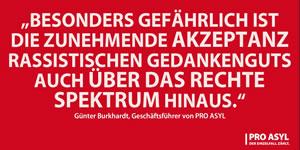 [Aufruf von Pro Asyl] Wir geben keine Ruhe - Gemeinsam gegen Rassismus!
