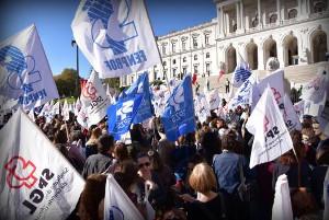 Lherstreikdemo Portugal 15.11.2017