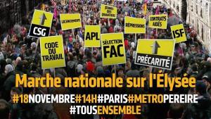 Mobilisierungsplakat Paris 18.11.2017