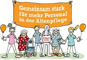 """[22. November 2017] ver.di-Aktionstag """"Gemeinsam stark in der Altenpflege"""" - Menschenkette für mehr Personal in der Altenpflege"""