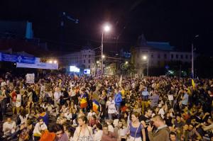 Demonstration gegen Steuerreform Bukarest im November 2017