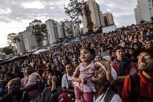 Der Beginn der Demonstration der Massenbestzung in Sao Bernardo am 31.10.2017