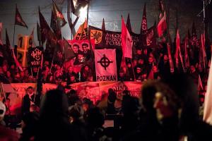 Faschistendemo in Warschau am 10.11.2017 - 60.000 dabei...