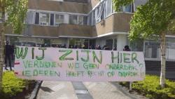 Das besetzte Flüchtlingshaus in der Nähe Amsterdams muss am 17.11.2017 gegen Räumung verteidigt werden