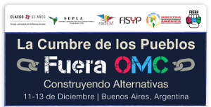 Anti-WTO Plakat Argentinien 11.12.2017