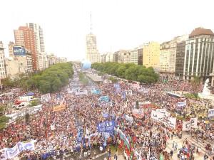 Buenos Aires 13. Dezember 2017 gegen WTO und Rentenreform