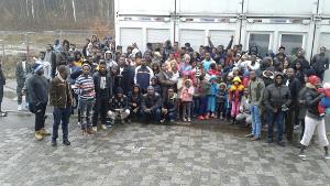 Lagerstreik in Deggendorf gegen Abschiebung nach Sierra Leone am 15.12.2017