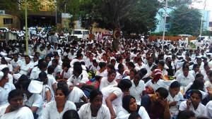Versammlung der Entlassenen im Gesundheitsstreik in Bihar am 9.12.17