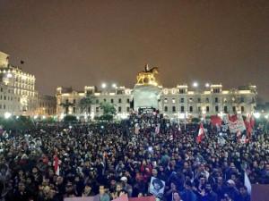 Weihnachten 2017 in Peru: Protest in Lima gegen Fujimoris Freilassung