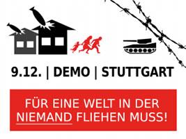 """Landesweite Demonstration am 9. Dezember 2017 in Stuttgart: """"Für eine Welt, in der niemand fliehen muss!"""""""