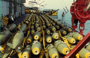 Rheinmetall-Bomben auf Sardinien produziert um über dem Jemen abgeworfen zu werden