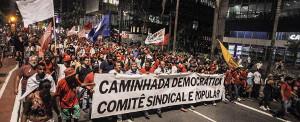 50.000 in Sao Paulo am 24.1.2018 gegen das zweite Lula Urteil