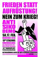 [17.2.2018] Münchner SIKO-Demonstration 2018: FRIEDEN STATT AUFRÜSTUNG! NEIN ZUM KRIEG!