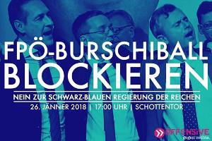 Mobilisierungsplakat gegen Wiener Burschenball Januar 2018