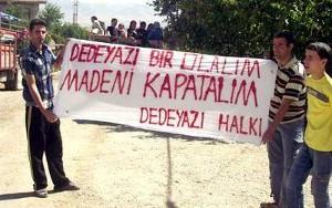 Protest gegen Eisenmine in der Türkei