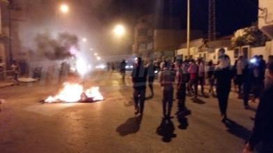 Demonstration gegen Teuerung in Douz in Tunesien in der Nacht zum 9.1.18