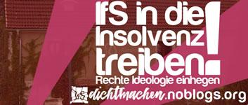 """IfS dichtmachen: """"IfS in die Insolvenz treiben – Rechte Ideologie einhegen"""""""