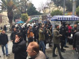 Spontandemo gegen den Krieg in Ankara am 21.1.2018