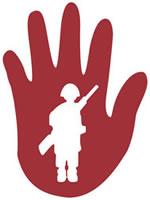 Aktion Rote Hand gegen den Einsatz von Kindersoldaten