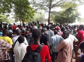Für den Abzug Frankreichs: Demo in Bamako Januar 2018