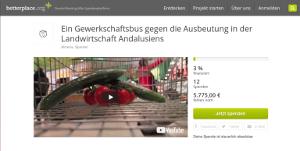 Spendenkampagne Interbrigadas für einen Bus für die SAT Andalusien