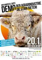 [Demonstration am 20. Januar 2018 in Berlin] Wir haben es satt! Der Agrarindustrie die Stirn bieten!