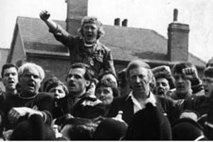 Arthur Scargill, in den 1980er Jahren der legendäre Führer der britischen  Bergarbeitergewerkschaft NUM (National Union of Mineworkers)