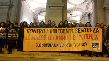 "08. Januar 2018 in Italien: Basisgewerkschaften im Streik gegen neue Diplom-Regelung des Umbauprojektes ""gute Schule"""