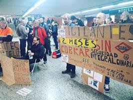 Sicherheitskräfte der Madrider U-Bahn werden nicht bezahlt und dürfen nicht einmal streiken - aber protestieren