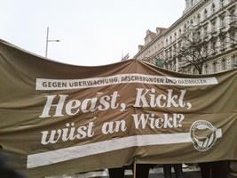 Am 13.Jänner 2018: Großdemonstration in Wien gegen die rechte Regierung von ÖVP und FPÖ