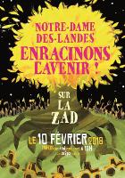 Mobilisierungsplakat für Flughafensieg-Feier in Nantes am 10.2.2018