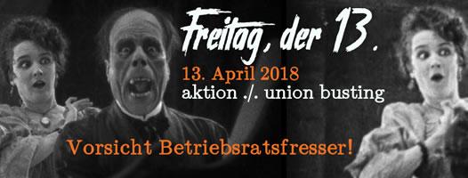 Aktion Arbeitsunrecht: Betriebsratswahlen 2018: Union Buster melden!