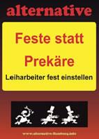 """Betriebsgruppe Alternative im hamburger Mercedes-Benz Werk: """"Feste statt Prekäre - Leiharbeiter fest einstellen"""""""