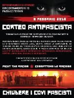 Antifa Mobilisierungsplakat 3.2.2018 in Genua