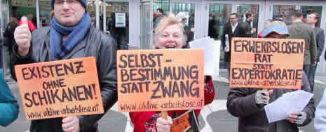 Aktive Arbeitslose Österreichs im Januar 2018 gegen das österreichische Hartz IV-Modell