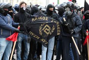 Griechische Faschisten im Februar 2018