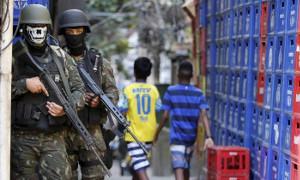 Alltag in favela nach dem Militäreinmarsch 16.2.2018