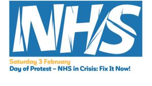 Demoplakat NHS London 3.2.2018