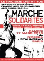 Frankreich: landesweite Demonstrationen am 17. März 2018, die sich gegen die Verfolgung von Flüchtlingen und Polizeigewalt richten