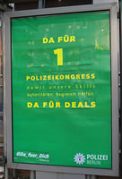 Polizeikongress 2018: Protest mit Adbusting am Alex