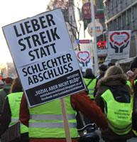 """Initiative """"Wir sind sozial, aber nicht blöd"""": Lieber Streik statt schlechter Abschluss"""""""