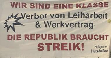 [Protest am 16.2.18 in Emden] Gegen Leiharbeit, Werkverträge und prekäre Arbeit bei VW im Emden und weltweit! Für die Übernahme aller Leiharbeiter bei VW! Freiheit für den Kollegen Fu Tianbo!