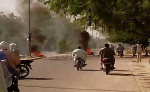 Aktion Tote Stadt in der tschadischen Hauptstadt N'Djamena am 12.3.2018