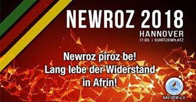 """""""Newroz ist auch unser Newroz"""" - Demonstration am Samstag, dem 17. März 2018, in Hannover"""